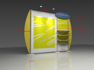Exhibiting Backdrop Banner Stand for Advertising Tradeshow (DY-W-015) pictures & photos
