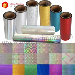 BOPP/PET Material Colorful Holographic/Laser/Hologram Thermal Laminating Film with Patterns