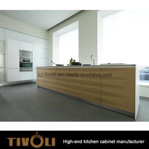 Oak Rosewood Veneer Cabinet Design Kitchen Cabinet and Kitchen Furniture (AP152) pictures & photos