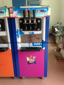 Commercial Free Standing Digital Three Flavors Soft Ice Cream Machine pictures & photos