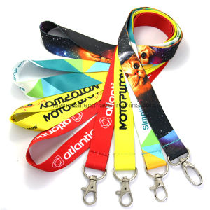 Custom Colourful Printed Neck Polyester Nylon Lanyard pictures & photos