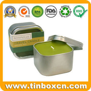 Square Candle Tin Box with Transparent Window, Metal Travel Tins pictures & photos