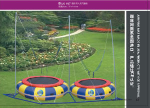 Outdoor Body Building Round Tablet Bungee Trampoline for Kids and Adults pictures & photos