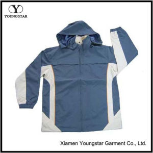 Waterproof Running Cycling Rain Jackets Raincoat Mens with Hood pictures & photos