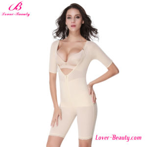 Powerful Modern Nude Deep V-Neck Zipper Body Shapers for Women pictures & photos