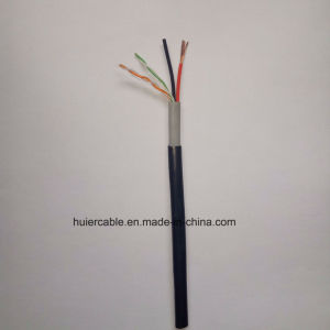 CCTV Cat5e Cable with Power Wires for IP Camera (2 Twisted Pairs) pictures & photos