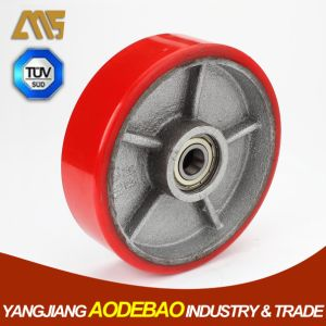 Hydraulic Forklift/Trolley/Hand Pallet Truck PU Wheels pictures & photos