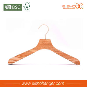 New Design Fashion Stripe Wood Coat Hanger pictures & photos