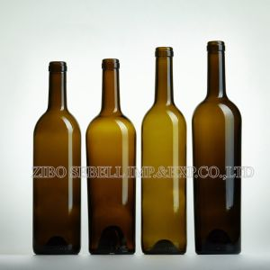 750ml Wine Glass Bottle with Cork Top in Bordeaux Design (NA-014) pictures & photos