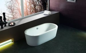 China Supplier Cheap Acrylic Freestanding Bathtub pictures & photos