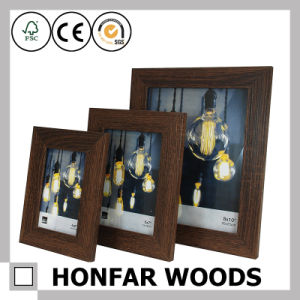"Modern Black Wooden Picture Frame with Mat Mat Opening 5""X7"" pictures & photos"