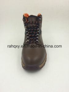 Shiny Smooth Leahther Waterproof Toe Protection Safety Shoes (16102) pictures & photos