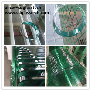 Polished Hole and Round Toughened Glass Table pictures & photos