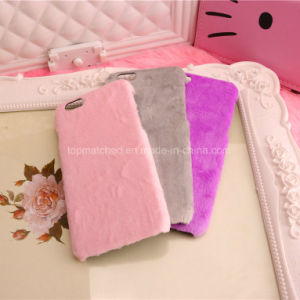Winter Warm Rabbit Fur Phone Case for iPhone 7 pictures & photos
