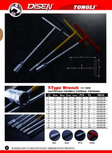 T Type Wrench with Red Plastic Handle pictures & photos