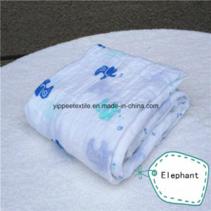 Soft&Smooth 70%Bamboo 30%Cotton Muslin Swaddle Blanket pictures & photos