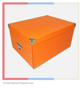 Cardboard Fodable Storage Box, Can Be Flat Packed pictures & photos