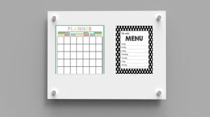 Monthly/Yearly and Weekly Magnetic Dry Erase Calendar/Planner Whiteboard with SGS En71/72/73