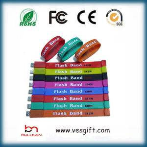 Gadget USB Branded Silicone Wristband USB Pendrive pictures & photos
