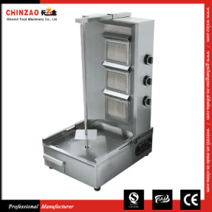 Stainless Steel Commercial 3 Burner LPG Gas Shawarma Grill pictures & photos
