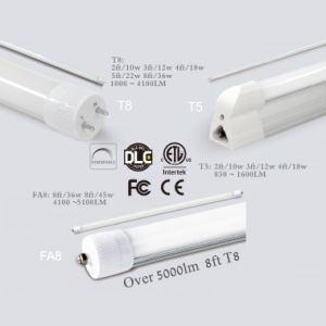 2FT/3FT/4FT/5FT/8FT, 10W/12W/18W/22W/36W G13 High Lumen LED Tube T8 with Dlc & ETL pictures & photos