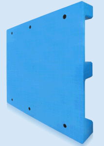 EU Size Pallet 1200*1000*140mm HDPE Flat Big Nine Feet Plastic Tray Static 4t for Warehouse Products pictures & photos