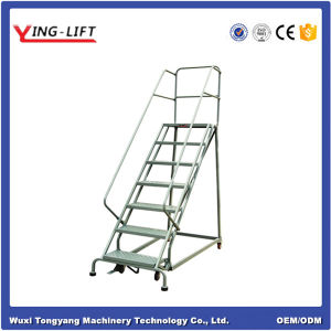 Storage Steel Movable Ladder with Handrail pictures & photos