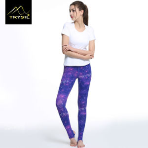 Fashionable Printed Yoga Foot Pants Gym Leggings for Women pictures & photos