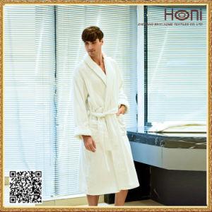 High Quality Hotel Bathrobe, White Men Bathrobe pictures & photos
