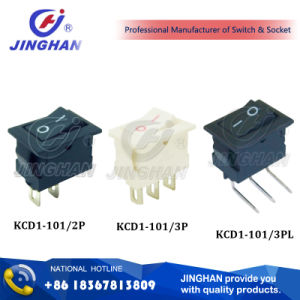 Kcd1-101 Mini on-off Rocker Switch 15*10mm pictures & photos