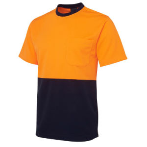 China Factory High Visibility Safety T-Shirt of 100% Cotton pictures & photos