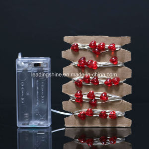 50 LEDs Firefly Micro String Lights Heart Shape for Wedding Centerpiece Party Christmas Decoration pictures & photos