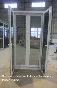 Aluminium Double Glazing French Doors with Insect Screen pictures & photos