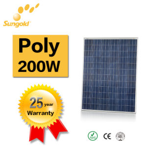 High Efficiency 36V Solar Panel Poly Solar Panel 200 pictures & photos