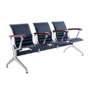 Full-Cushioned Stainless Steel Airport Waiting Chair with Wood Armrest pictures & photos