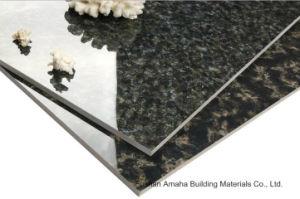Foshan Tile Building Material Full Body Light Polished Glazed Porcelain Floor Tile Black (BMG22P) pictures & photos
