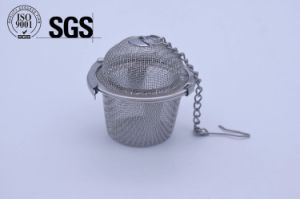 Cage Shape Stainless Steel Tea Infuser with Lid pictures & photos