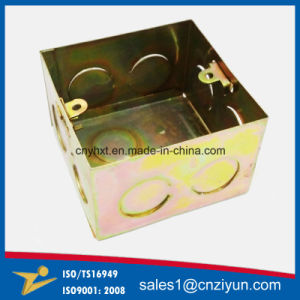 Custom Metal Fiber Optic Junction Box with Yellow Zinc pictures & photos