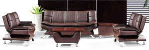 Modern Europe Design Steel Metal Leather Waiting Office Sofa (NS-S909) pictures & photos
