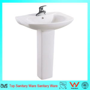 Popular Bathroom Sinks Ceramic Hand Wash Pedestal Basin pictures & photos