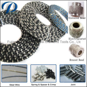 Granite Marble Sandstone Quarry Block Slab Cutting Diamond Wire Saw pictures & photos