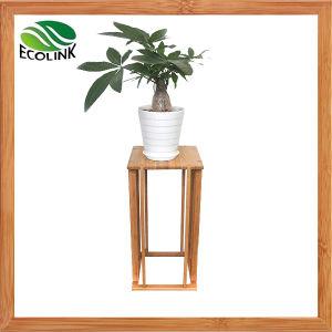 Hot Sale Bamboo Flower Rack /Garden Flower Shelf Rack pictures & photos