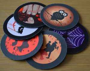 Natural Rubber Mouse Pad with Halloween Theme Design pictures & photos