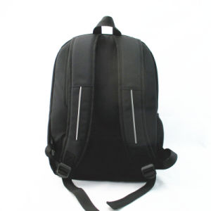 Black Back to School Backpack with Reflective Stripe pictures & photos