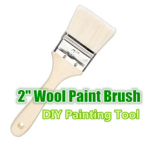 2 Inch Wooden Handle Wool Paint Brush pictures & photos