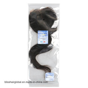 "3.5""X4"" Lace Closure Half Hand Tied and Half Machine Made Hair pictures & photos"