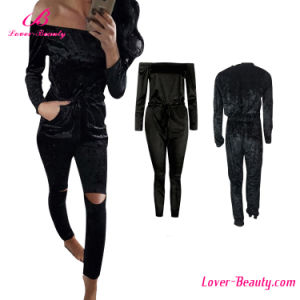 off Shouler Black Long Sleeves Romper Jumpsuit pictures & photos