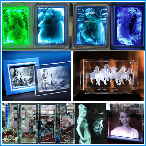 Glass Crystal Laser Engraving Machine for Door pictures & photos
