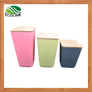 Bamboo Fiber Kitchen Canister 4 Piece Set with Airtight Bamboo Lid pictures & photos