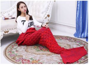 Mermaid Blankets Soft Material Kids Adult Mermaid Dress Birthday Gift pictures & photos